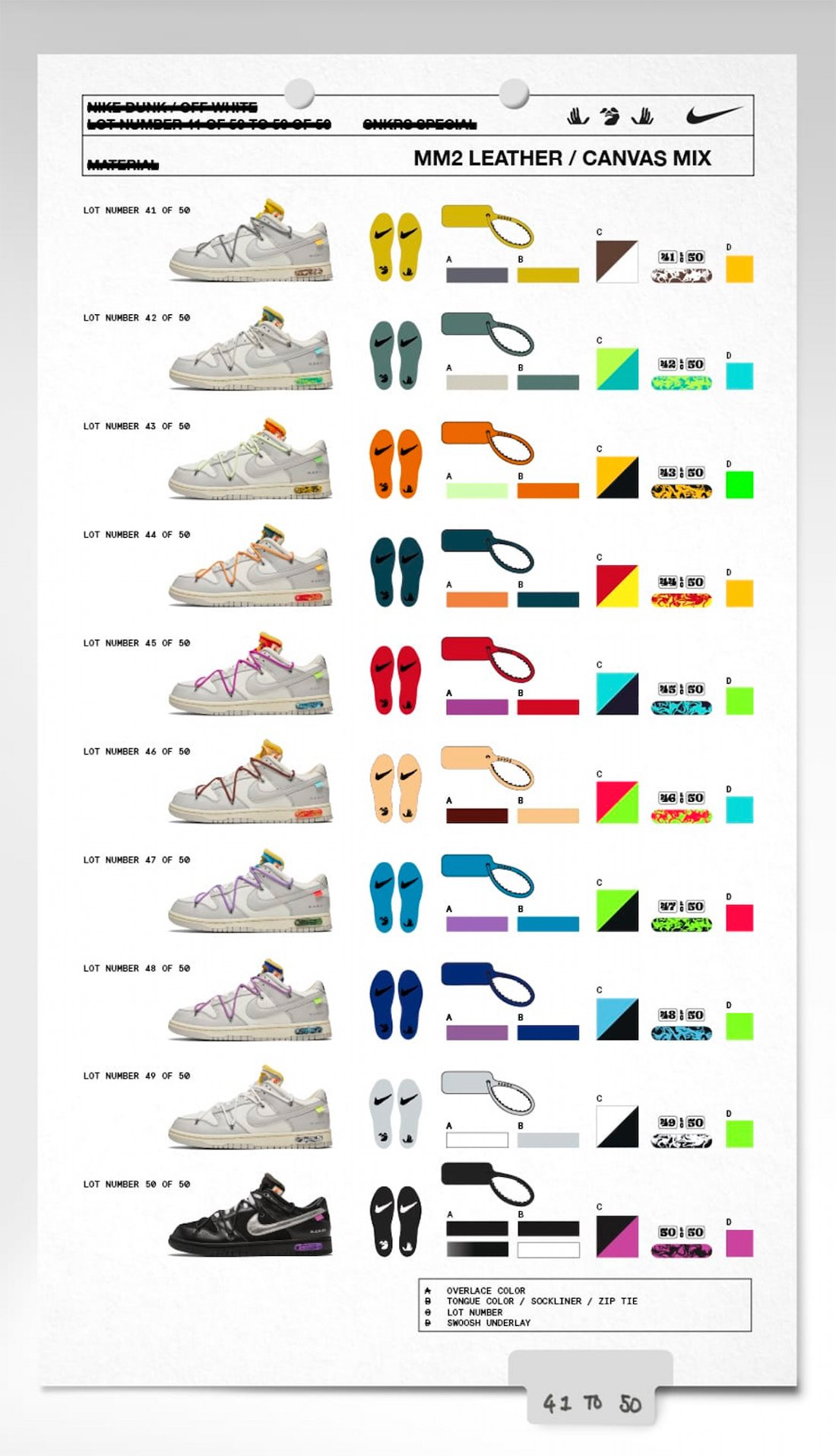 Off-White x Nike Dunk Low 41-50 Collection