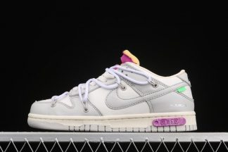 Off-White x Nike Dunk Low 50 of 50 Sail Grey With White Laces