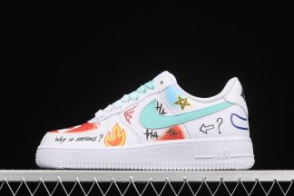 Rainbow Paint Nike Air Force 1 Low Why So Serious Personalized Custom