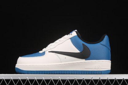 Travis Scott x Fragment x Nike Air Force 1 Low White Blue Black