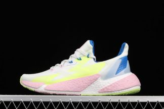 Womens adidas X9000L4 White Volt Pink Running Shoes