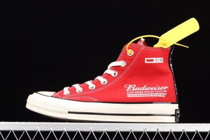 Budweiser x Converse Chuck Taylors 70 High Red Unisex