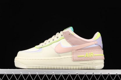 CI0919-700 Nike Air Force 1 Shadow Cashmere Pale Coral-Pure Violet