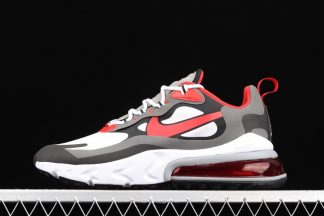 CI3866-002 Nike Air Max 270 React Black White-Iron Grey-University Red