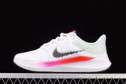 CW3419-100 Nike Winflo 8 White Black-Bright Crimson