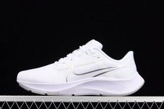 CW7358-100 Nike Air Zoom Pegasus 38 White Metallic Silver
