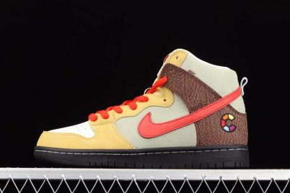 CZ2205-700 Color Skates x Nike SB Dunk High Kebab and Destroy