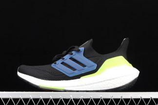Chaussures adidas Ultra Boost 21 Black Solar Yellow Blue