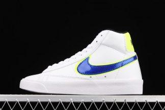 DB4677-100 Nike Blazer Mid White Racer Blue Volt
