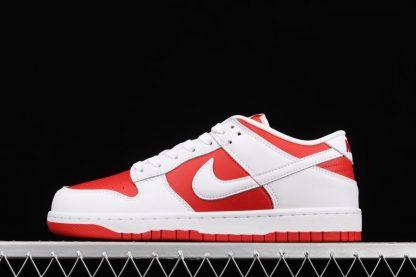 DD1391-600 Nike Dunk Low University Red White-Total Orange