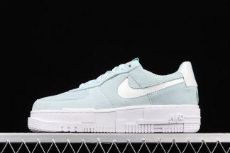DH3855-400 Glacier Blue White Nike Air Force 1 Pixel