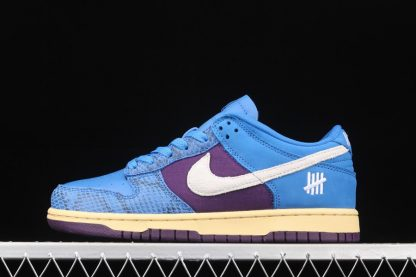 DH6508-400 Undefeated x Nike Dunk Low In Blue and Purple