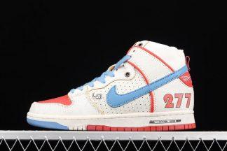 DH7683-100 Ishod Wair x Magnus Walker x Nike SB Dunk High White Blue Red