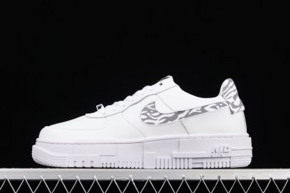 DH9632-100 Nike Air Force 1 Pixel Zebra White Grey