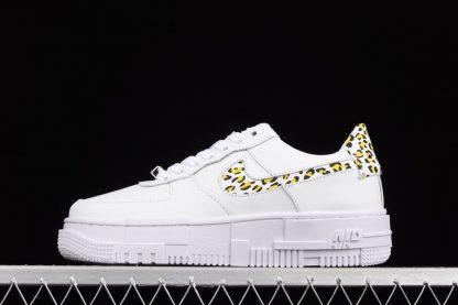DH9632-101 Nike Air Force 1 Pixel Leopard White Lemon
