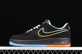DM9051-001 Nike Air Force 1 Low Peace and Unity Black Suede