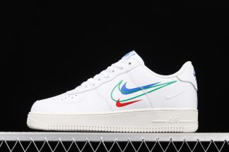 DM9096-101 White Nike Air Force 1 Low Multi-Swooshes