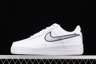 DN4925-100 White Nike Air Force 1 Low With Iridescent Swooshes