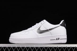DN4928-100 Nike Air Force 1 Low Zig Zag White Black