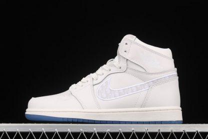 Dior x Air Jordan 1 Triple White