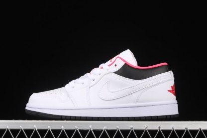 Kids Air Jordan 1 Low Chicago-Friendly White Black Red