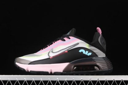 Ladies Nike Air Max 2090 White Black-Pink Foam-Lotus Pink