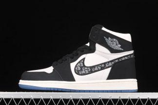 New Dior x Air Jordan 1 White Black