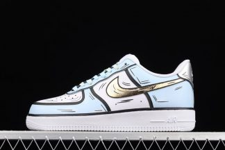 Nike Air Force 1 Low Marshmallow White Blue Gold