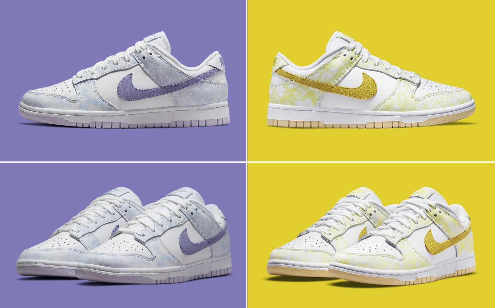 Nike Dunk Low Purple Pulse and Yellow Strike Ready for Summer