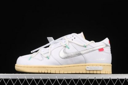 Off-White x Nike Dunk Low 01 of 50 White Silver