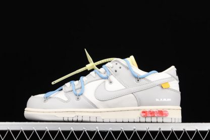 Off-White x Nike Dunk Low 05 of 50 Sail Grey Blue