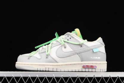 Off White x Nike Dunk Low 07 To 50 Sail Neutral Grey-Vapor Green