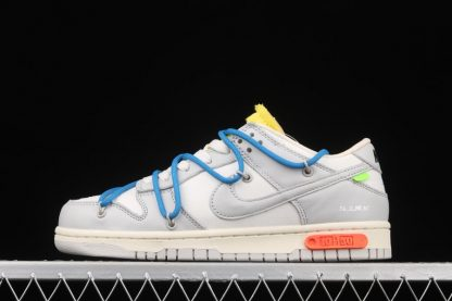 Off-White x Nike Dunk Low 10 of 50 White Grey Blue