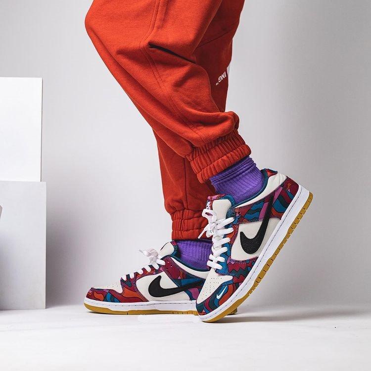 Parra x Nike SB Dunk Low Pro Abstract Art On Feet