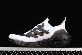 S23708 adidas Ultra Boost 2021 Oreo White Black Grey