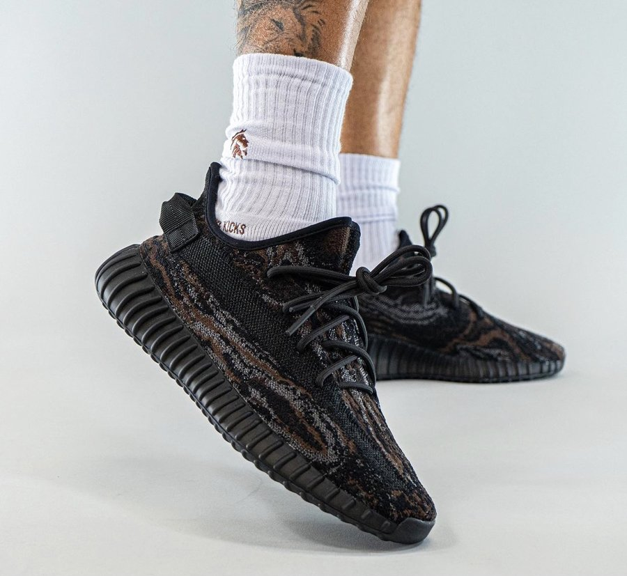 adidas Yeezy Boost 350 V2 MX Rock On Feet
