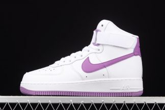 334031-112 Nike Air Force 1 High White Dark Orchid
