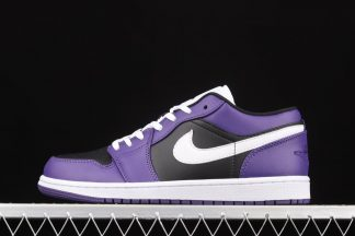 553558-501 Air Jordan 1 Low Court Purple Black White On Sale