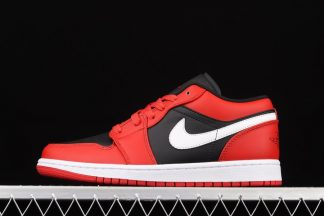 553560-061 Air Jordan 1 Low Black White Very Berry On Sale