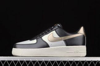 849345-003 Nike Air Force 1 Low Cool Grey Metallic Gold