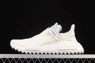AC7031 Pharrell x adidas NMD Hu Trail Blank Canvas In White