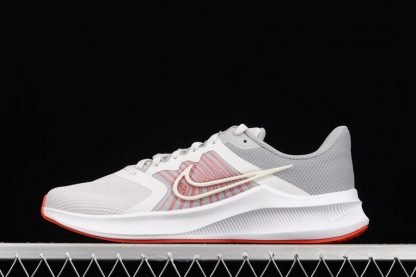 CW3411-004 Nike Downshifter 11 White Grey Red Mens Size