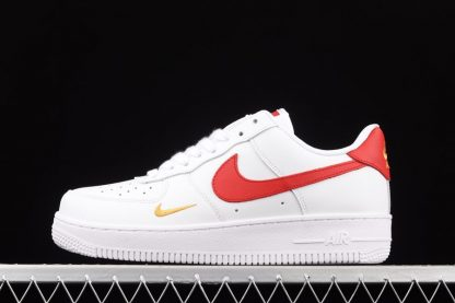 CZ0270-104 Nike Air Force 1 07 Essential White Gym Red-Gold