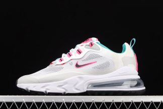 CZ1612-100 Air Max 270 React Light Grey Teal Pink With Small Side Swoosh