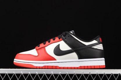 DD3363-100 NBA x Nike Dunk Low EMB 75th Anniversary Sail Black Red