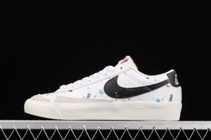 DJ1517-100 Nike Blazer Low 77 Paint Splatter White Black-Sail