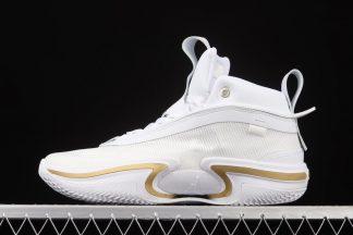 DJ4482-100 Air Jordan 36 Glory White Metallic Gold