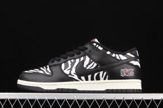 DM3510-001 Quartersnacks x Nike SB Dunk Low Zebra Black White Outlet