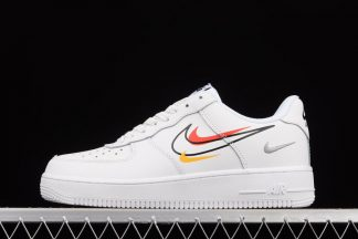 DM9096-100 Nike Air Force 1 Low Multi-Swooshes White