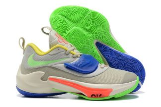 Nike Zoom Freak 3 Primary Colors Sail Green Yellow Red Blue